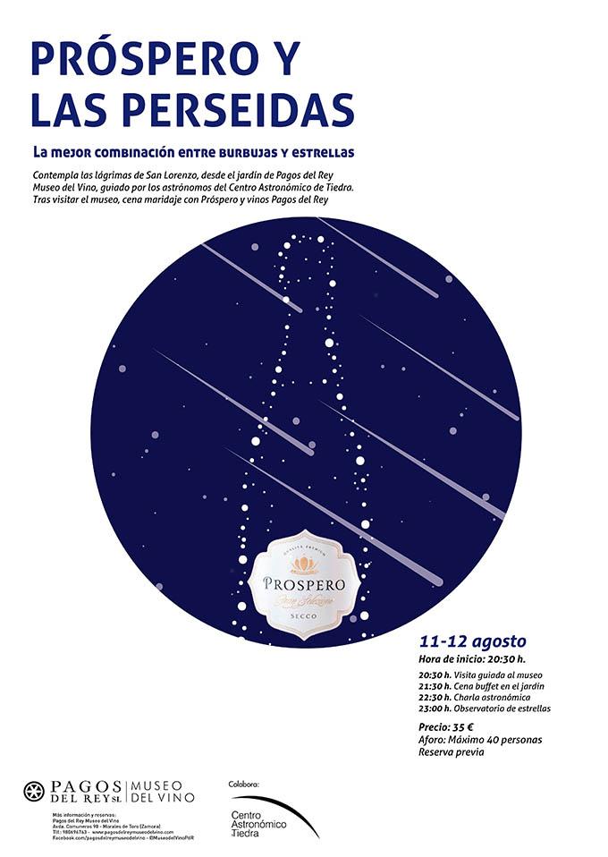 Cena y Observacion Astronómica en Museo del Vino Pagos del Rey